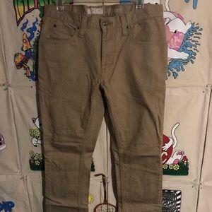 Free world khaki denim jeans